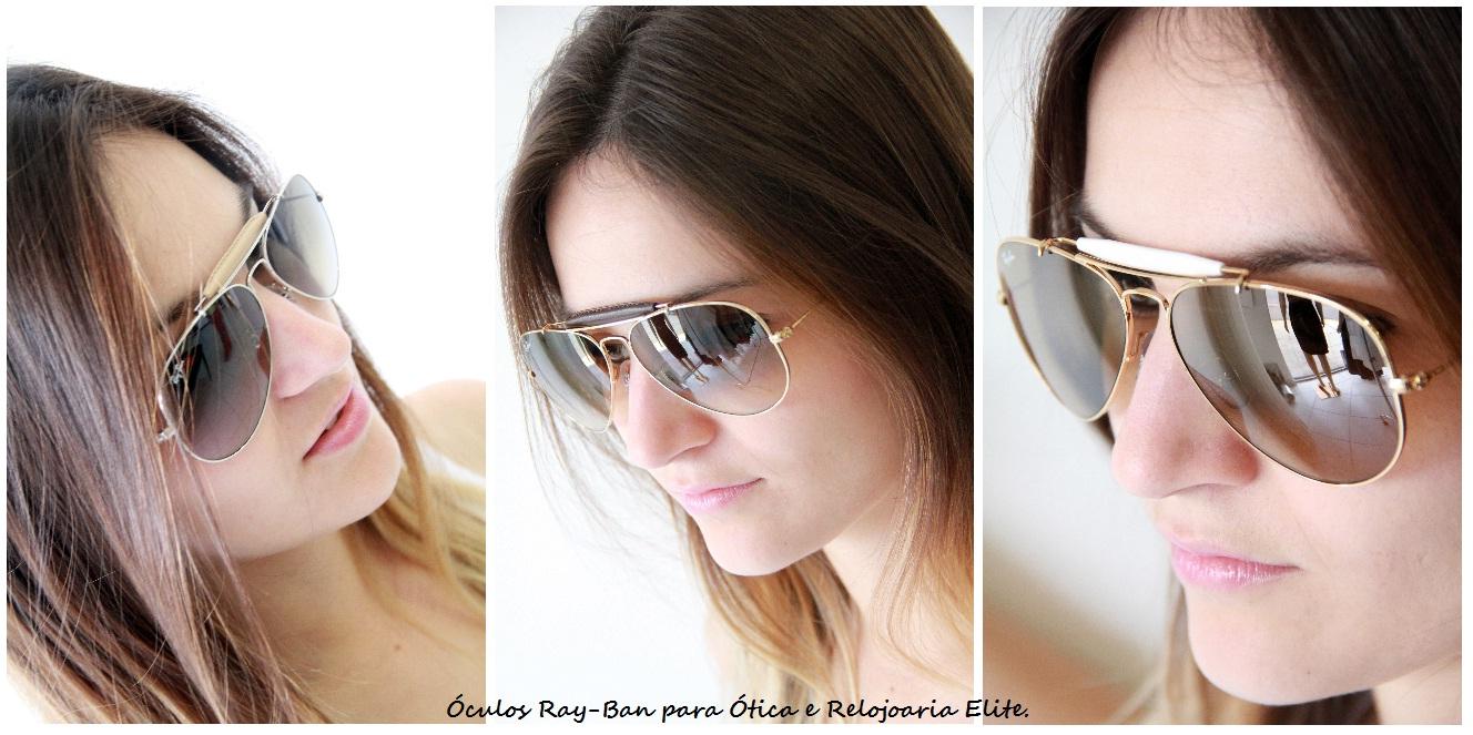 f99613bf531ed Confiram os óculos da Ray-Ban que chegaram na Relojoaria e Ótica Elite – De  courinho bege e marrom e acetato branco! Não sei qual é o mais lindo!!!  AMEI!