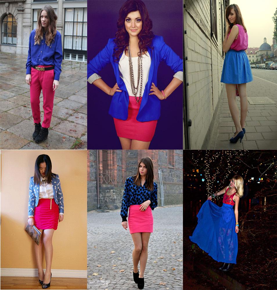 pink + azul