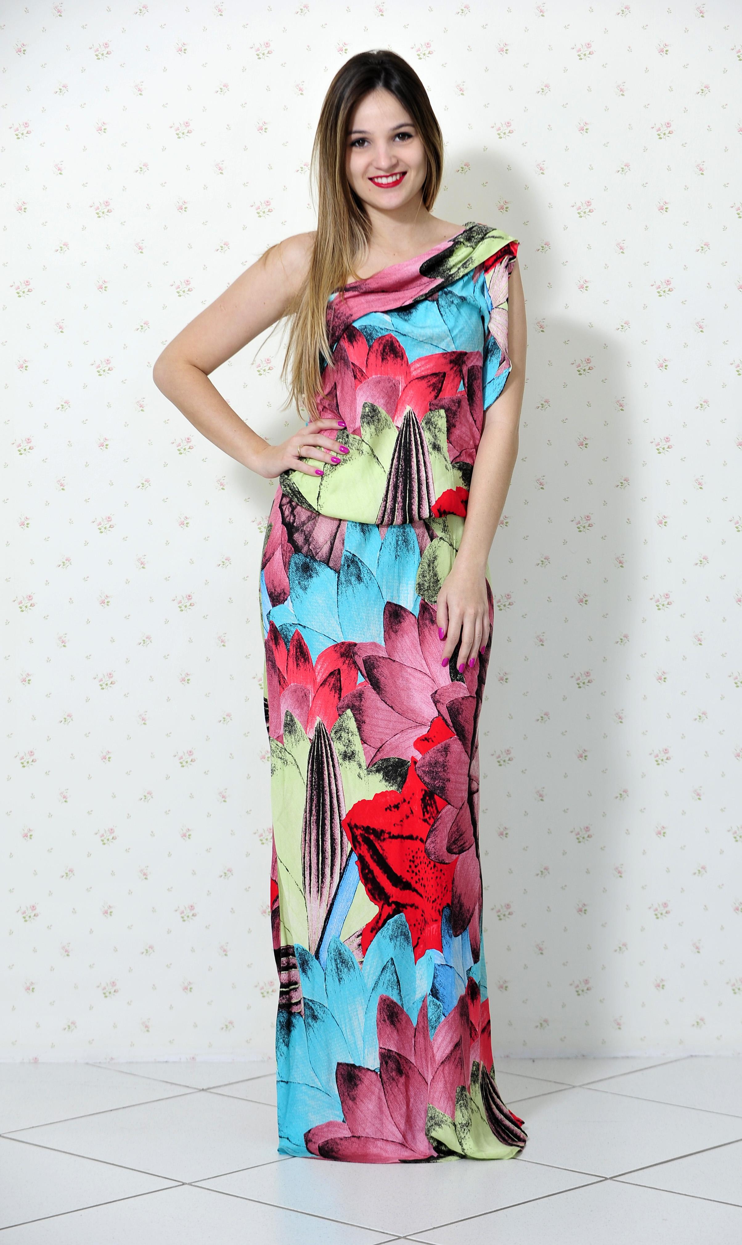 bd3a88642240 Look Impactto: Vestido longo – Blog Mah Seno